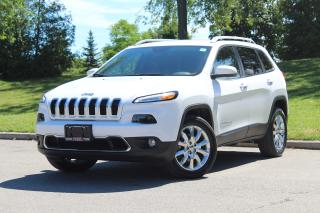 Used 2016 Jeep Cherokee Limited*4x4*NAV*Leather*Camera*Tow*PwrLiftgate*Rem for sale in Mississauga, ON