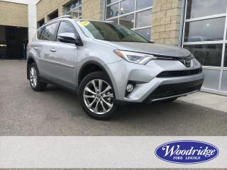 Used 2018 Toyota RAV4 Limited ***LOW KM'S*** 2.5L, NAVIGATION, SUNROOF, LEATHER HEATED SEATS, AWD NO ACCIDENTS for sale in Calgary, AB
