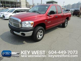 Used 2008 Dodge Ram 1500 ST 4x4 Quad Cab 140.5wb *Low Km's, No Accidents* for sale in New Westminster, BC