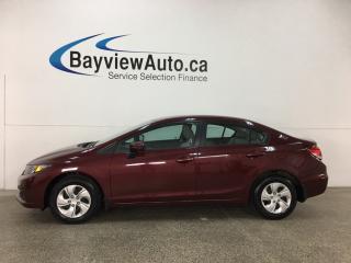 Used 2015 Honda Civic LX - AUTO! HTD SEATS! A/C! REVERSE CAM! BLUETOOTH! CRUISE! for sale in Belleville, ON