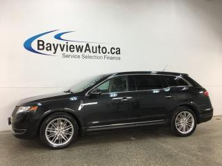 Used 2014 Lincoln MKT EcoBoost - KEYPAD! CHROMES! PANOROOF! HTD/AC LTHR! NAV! BLIS! ACC! APA! for sale in Belleville, ON