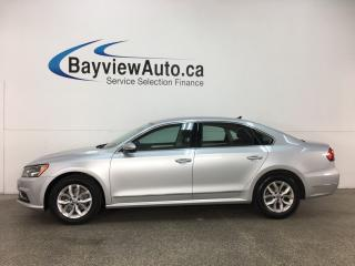 Used 2017 Volkswagen Passat 1.8 TSI Trendline+ - ALLOYS! HTD SEATS! DUAL CLIMATE! REVERSE CAM! BLUETOOTH! for sale in Belleville, ON