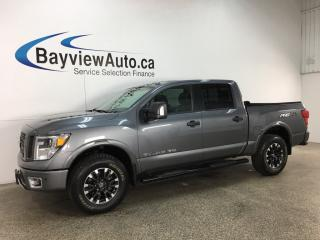 Used 2018 Nissan Titan PRO-4X - TONNEAU CVR! PUSH BTN START! NAV! ROCKFORD FOSGATE! for sale in Belleville, ON