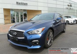 Used 2016 Infiniti Q50 Red Sport 400 TECH, Navi, 360 Camera, BSW for sale in Unionville, ON