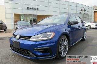 Used 2018 Volkswagen Golf R 2.0 TSI MT, Tech, Leather, Navi, Backup Camera, BSM for sale in Unionville, ON