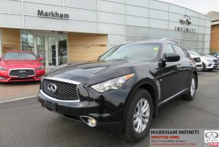 Used 2017 Infiniti QX70 Premium , Leather, Sunroof, Backup Camera for sale in Unionville, ON