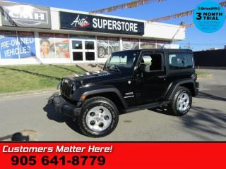 Used 2011 Jeep Wrangler Sport  4X4 MANUAL 2-TOPS AIR CONDITIONING for sale in St Catharines, ON