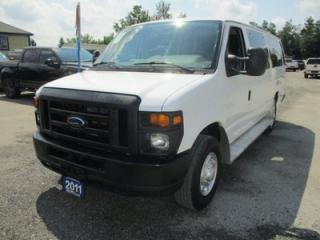 Used 2011 Ford E350 PEOPLE MOVING SUPER DUTY 14 PASSENGER 6.8L - V10.. CD/AUX/USB INPUT.. KEYLESS ENTRY.. AIR CONDITIONING.. ADVANCE TRAC SYSTEM.. for sale in Bradford, ON