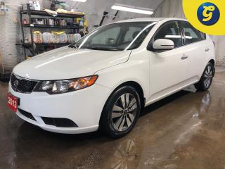 Used 2013 Kia Forte EX*PHONE CONNECT*HANDS FREE VOICE COMMAND*AUTO HEADLIGHTS*SPORT MODE*CLIMATE CONTROL*IPOD/FM/AM/CD/USB/AUX*POWER WINDOWS/LOCKS/HEATED FRONT SEATS* for sale in Cambridge, ON