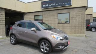 Used 2014 Buick Encore Leather Black leather interior, back up camera, heated seats, Bose stereo system for sale in Kingston, ON