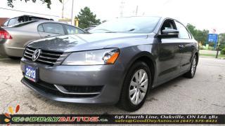 Used 2013 Volkswagen Passat Trendline|ALLOYS|BLUETOOTH|A/C||CERTIFIED for sale in Oakville, ON