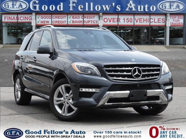 2015 Mercedes-Benz ML 350 DIESEL, 4MATIC, LEATHER SEATS, PANORAMIC ROOF, NAV