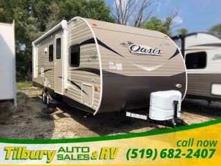 New 2019 Forest River SHASTA OASIS 26DB FREE GENERATOR. Bunk House. Dinette. for sale in Tilbury, ON
