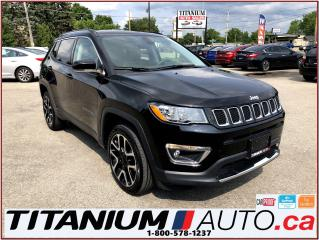 Used 2017 Jeep Compass Limited-4X4-GPS-Camera-Pano Roof-Leather-ApplePlay for sale in London, ON