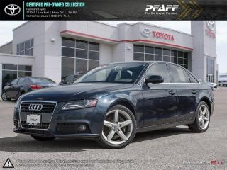 Used 2012 Audi A4 2.0T Prem Tiptronic qtro Sdn FULLY LOADED CLEAN WELL MAINTAINED SUNROOF LEATHER AND MORE for sale in Orangeville, ON