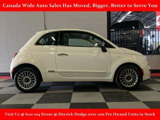 Used 2012 Fiat 500 Lounge, Leather, Sunroof for sale in Edmonton, AB