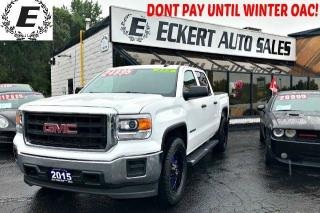 Used 2015 GMC Sierra 1500 CREW CAB 4X4 WITH CUSTOM RIMS / TONNEAU COVER for sale in Barrie, ON