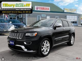 Used 2014 Jeep Grand Cherokee Summit. DIESEL. TOUCH SCREEN. LEATHER. for sale in Tilbury, ON