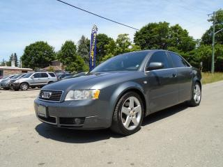 Used 2002 Audi A4 3.0L Quattro for sale in King City, ON