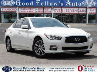 Used 2014 Infiniti Q50 PREMIUM MODEL, AWD, SUNROOF, LEATHER SEATS, NAVI for sale in North York, ON