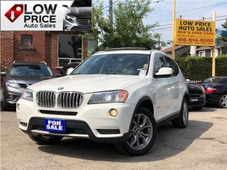 Used 2014 BMW X3 PanoramicRoof*Navi*Camera*XenonPkg&BMWWarr* for sale in York, ON