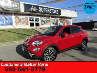 Used 2017 Fiat 500X Trekking  ROOF CAMERA LEATHER-CLOTH BLUETOOTH 18 ALLOYS REMOTE for sale in St Catharines, ON