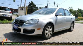 Used 2008 Volkswagen Jetta Trendline|5SPD|LOW KM|NO ACCIDENT|ALLOYS|CERTIFIED for sale in Oakville, ON