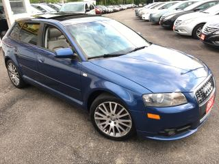 Used 2007 Audi A3 6 SPEED/ NAVI/ LEATHER/ PANORAMIC SUNROOF/ ALLOYS for sale in Scarborough, ON