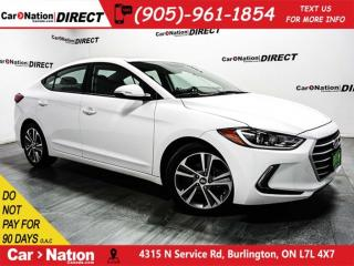 Used 2017 Hyundai Elantra GLS| SUNROOF| BLIND SPOT DETECTION| LOCAL TRADE| for sale in Burlington, ON