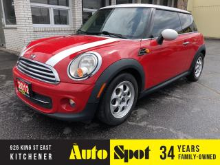 Used 2012 MINI Cooper Hardtop LOADED/LOW, LOW KMS/PRICED FOR A QUICK SALE for sale in Kitchener, ON