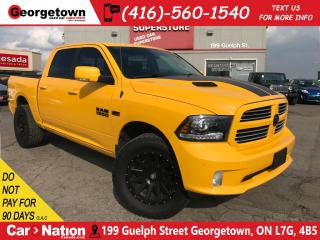 Used 2016 RAM 1500 Sport | NAVI | LEATHER | CREW | 4X4 | BLACK RIMS for sale in Georgetown, ON