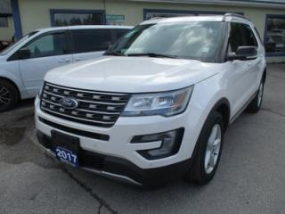 Used 2017 Ford Explorer LOADED XLT EDITION 7 PASSENGER 3.5L - V6.. 4WD.. BENCH & 3RD ROW.. LEATHER.. HEATED SEATS.. NAVIGATION.. BACK-UP CAMERA.. POWER SUNROOF.. for sale in Bradford, ON
