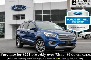 Used 2017 Ford Escape CPO - TITANIUM 4WD - TRAILER TOW - MOONROOF for sale in Ottawa, ON