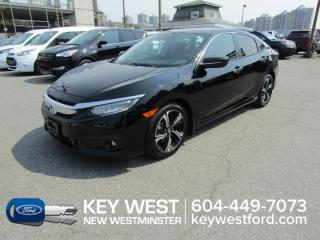 Used 2017 Honda Civic Sedan Touring Sunroof Leather Nav Cam Heated Seats for sale in New Westminster, BC