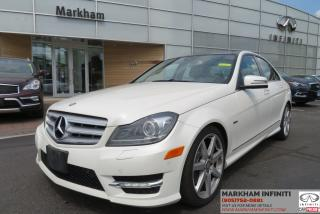 Used 2012 Mercedes-Benz C-Class Leather, Navi, Pano Roof, Camera for sale in Unionville, ON