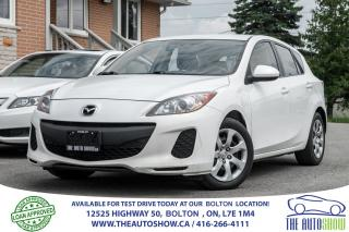 Used 2012 Mazda MAZDA3 5 SPD 5DR 1 OWNER NO ACCIDENTS CERTIFIED for sale in Caledon, ON