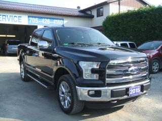 Used 2015 Ford F-150 Lariat, Crew Cab, 4X4 ,Panoramic Sunroof for sale in Beaverton, ON