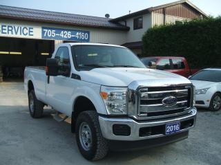 Used 2016 Ford F-250 XL, Reg. Cab, 4X4 , Long Box for sale in Beaverton, ON