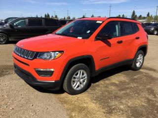New 2018 Jeep Compass 4X4 SPORT Air Conditioning Touchscreen Bluetooth Push-button Start - Edmonton for sale in Edmonton, AB