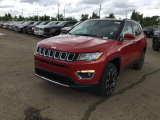 New 2018 Jeep Compass 4X4 LIMITED Heated Leather Interior 8.4 Inch Touchscreen Back-up Camera Bluetooth - Edmonton for sale in Edmonton, AB