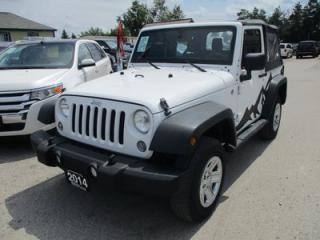 Used 2014 Jeep Wrangler 'FUN TO DRIVE' SPORT EDITION 5 PASSENGER 3.6L - V6.. 4X4.. CD/AUX INPUT.. REMOVABLE SOFT TOP.. for sale in Bradford, ON
