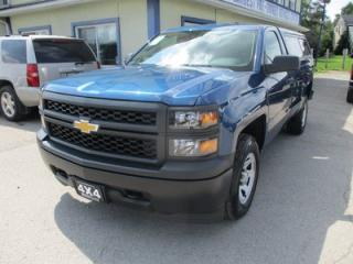 Used 2015 Chevrolet Silverado 1500 WORK READY LS EDITION 3 PASSENGER 5.3L - V8.. 4X4.. REGULAR CAB.. 8-FOOT LONG BOX.. TOW SUPPORT.. AUX/USB INPUT.. LEER CAP.. for sale in Bradford, ON
