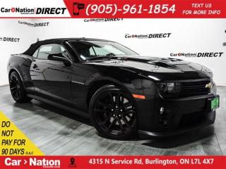 Used 2015 Chevrolet Camaro ZL1| CONVERTIBLE| NAVI| LEATHER| for sale in Burlington, ON