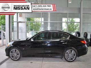 Used 2015 Infiniti Q50 Premium  -  power sunroof - $188.39 B/W for sale in Mississauga, ON