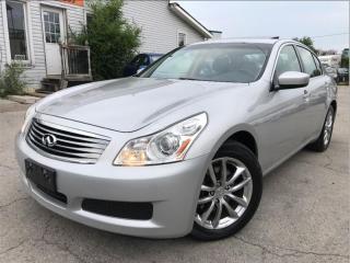 Used 2009 Infiniti G Sedan Luxury|AWD|Leather|Sunroof|Bluetooth|Accident free for sale in Burlington, ON
