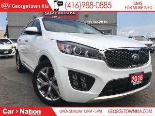 Used 2016 Kia Sorento 3.3L SX 7 PASS | NAVI | LEATHER | AWD | PANO ROOF for sale in Georgetown, ON