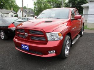 Used 2012 RAM 1500 'GREAT VALUE' SPORT MODEL 5 PASSENGER 5.7L - HEMI.. 4X4.. CREW.. SHORTY.. CD/AUX INPUT.. KEYLESS ENTRY.. for sale in Bradford, ON