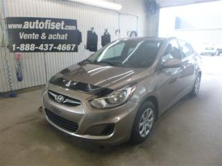 Used 2012 Hyundai Accent L for sale in St-raymond, QC