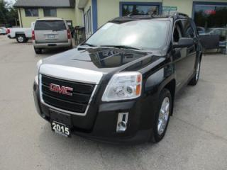 Used 2015 GMC Terrain LOADED SLT-1 EDITION 5 PASSENGER 2.4L - ECO-TEC.. AWD.. LEATHER.. HEATED SEATS.. NAVIGATION.. SUNROOF.. BACK-UP CAMERA.. for sale in Bradford, ON