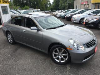 Used 2005 Infiniti G35 Luxury/ AUTO/ LEATHER/ SUNROOF/ ALLOYS for sale in Scarborough, ON